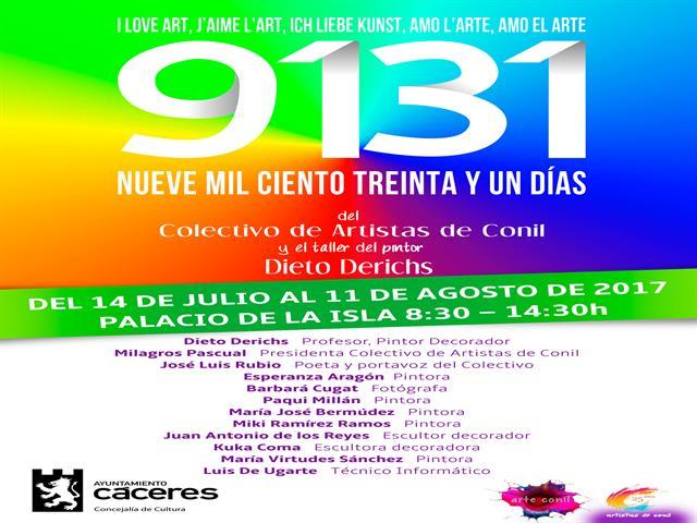 El Palacio de la Isla acoge hasta el 11 de agosto la exposición '9131 días'