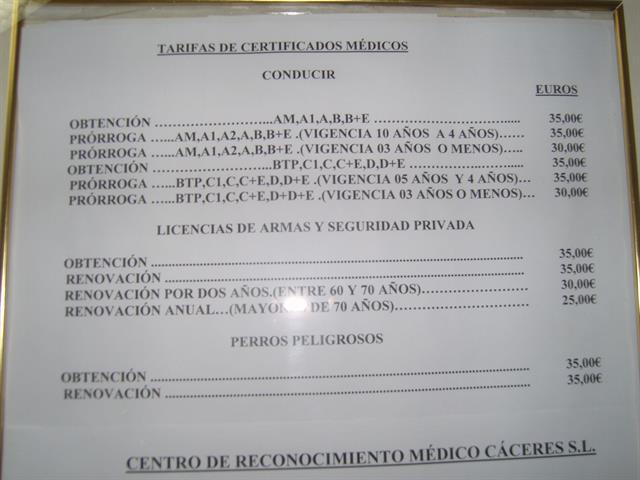 CENTRO DE RECONOCIMIENTO DE CONDUCTORES CÁCERES, S.L.: PERMISO DE ARMAS EN CACERES,  RENOVACIÓN CARNET DE CONDUCIR,   OBTENER PERMISO DE ARMAS,
