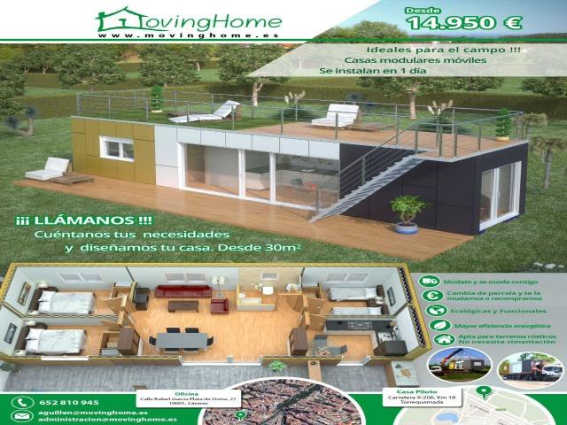 MOVINGHOME, Casas modulares prefabricadas económicas en Cáceres