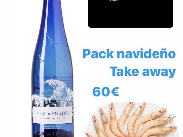 Pack Navidad, botella 1.5 litros y  Gamba Blanca Huelva