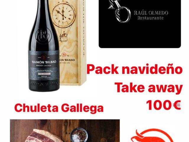 Pack Navidad, Botella Ramón Bilbao 1.5 litros y chuleta Gallega