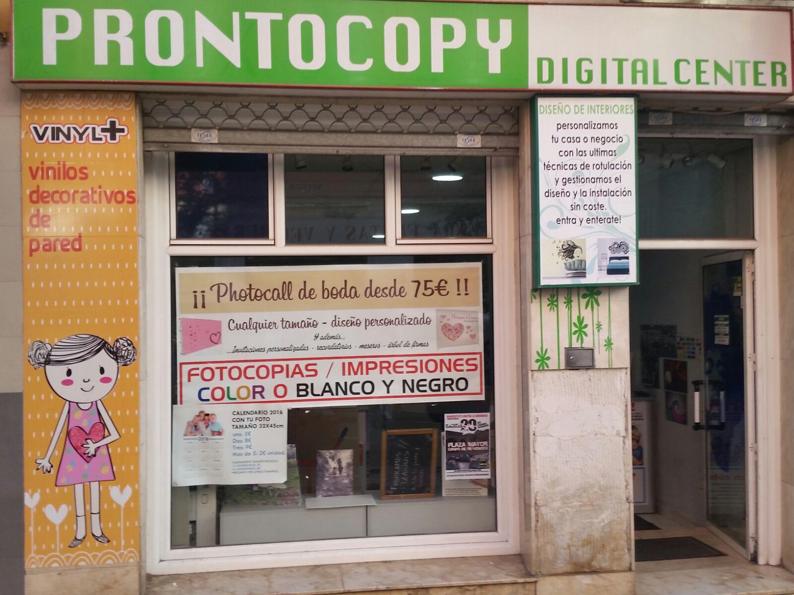 PRONTOCOPY, Fotocopias económicas en Cáceres, Rótulos baratos en Cáceres, Ploter en Cáceres