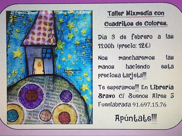 TALLER MIXMEDIA, MIXED MEDIA, MIXED MEDIA ART, SCRAP BOOKING, SCRAP, PINTURA, ARTE, FUENLABRADA, MADRID SUR, TOLEDO