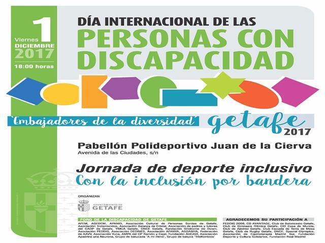 Getafe celebra el Dia Internacional de la Discapacidad con una jornada de deporte inclusivo