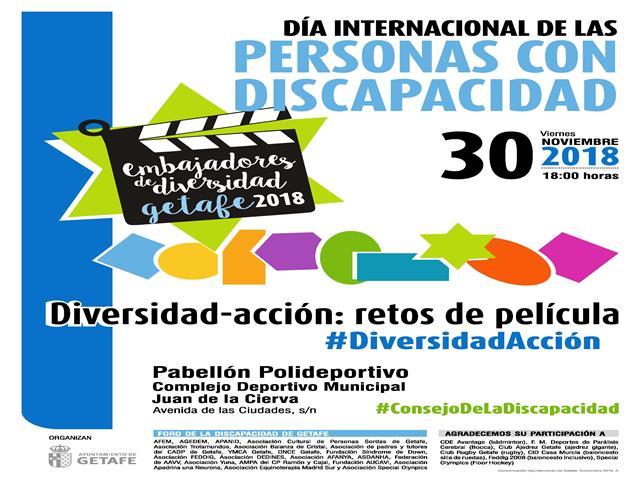 Getafe celebra el Dia Internacional de la Discapacidad el viernes 30 de noviembre con una representación artística de escenas de cine