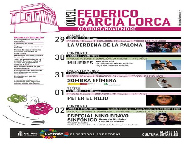 Zarzuela, danza flamenca, teatro y música en directo para disfrutar el fin de semana en Getafe