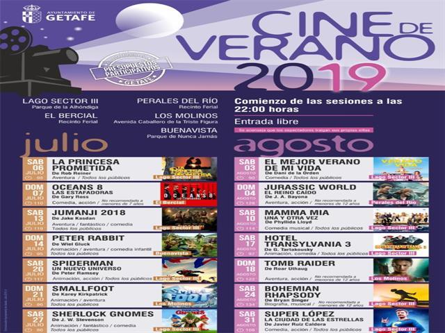 El 'Cine de Verano' proyectará 14 películas en julio y agosto al aire libre y de forma gratuita