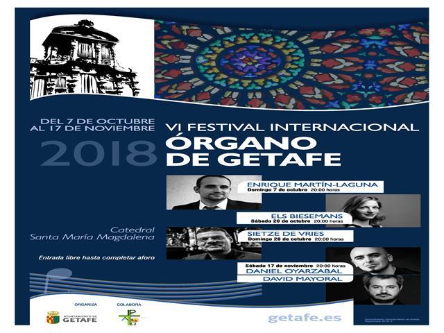 El VI Festival Internacional de Organo de Getafe traerá nuevamente a virtuosos del género