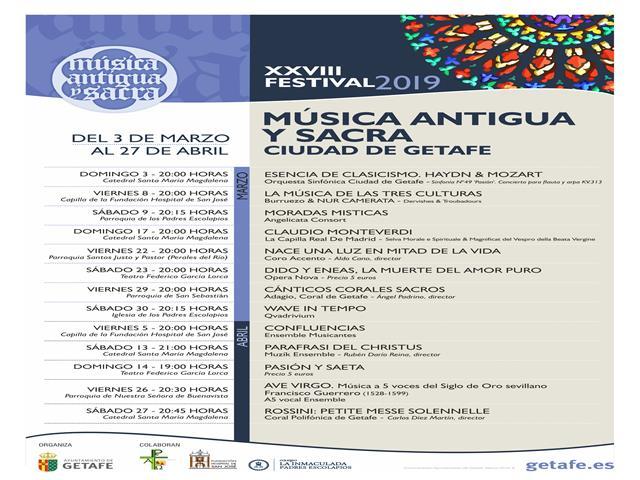 Comienza la XXVIII edición del Festival de Música Antigua y Sacra de Getafe