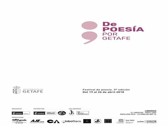 La ciudad se llenará de versos en una nueva edición de 'De poesía por Getafe'