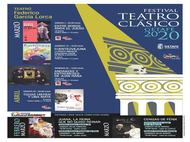 El Festival de Teatro Clásico de Getafe tendrá como protagonista destacado a Lope de Vega