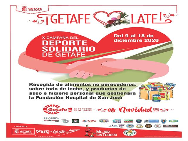 El Ayuntamiento de Getafe pone en marcha la X Campaña del Deporte Solidario de Getafe
