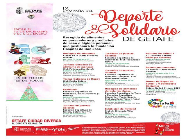 Comienza la 'IX Campaña del Deporte Solidario de Getafe'