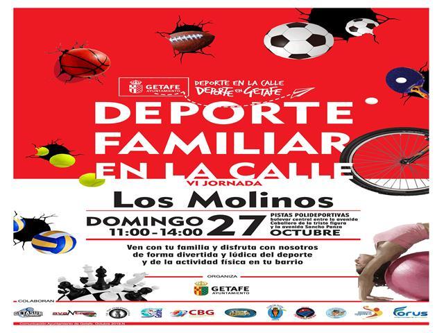 El próximo domingo se podrá disfrutar de 'Deporte familiar en la calle' en Los Molinos