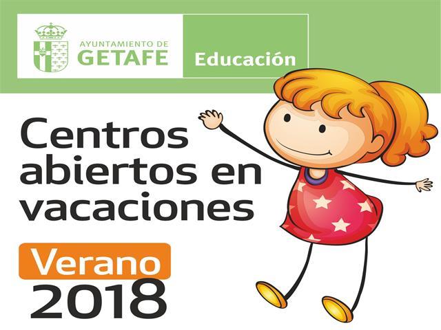 El Ayuntamiento de Getafe abre 12 centros escolares para las vacaciones de verano 2018