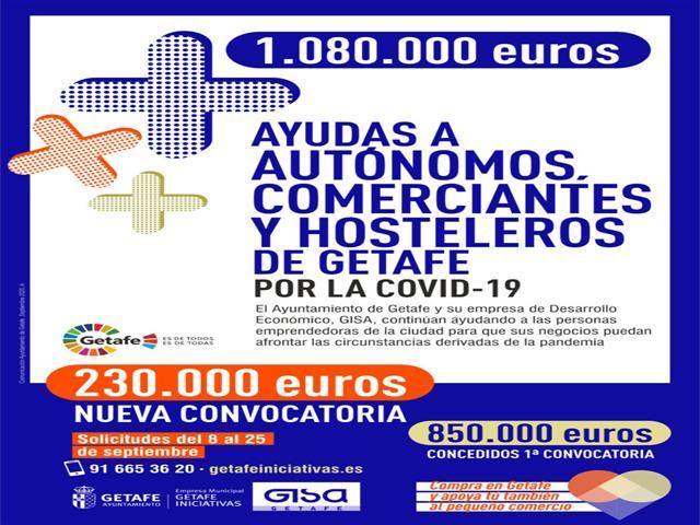 Nuevas ayudas a autónomos de Getafe que ya superan 1.000.000 de euros