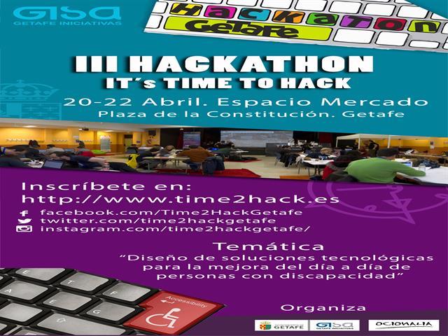 El Ayuntamiento de Getafe organiza un hackathon dedicado a las soluciones tecnológicas para personas con discapacidad