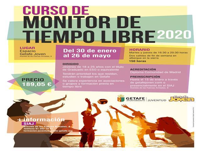 El Ayuntamiento de Getafe ofrece un nuevo curso de Monitor de Tiempo Libre para jóvenes de Getafe