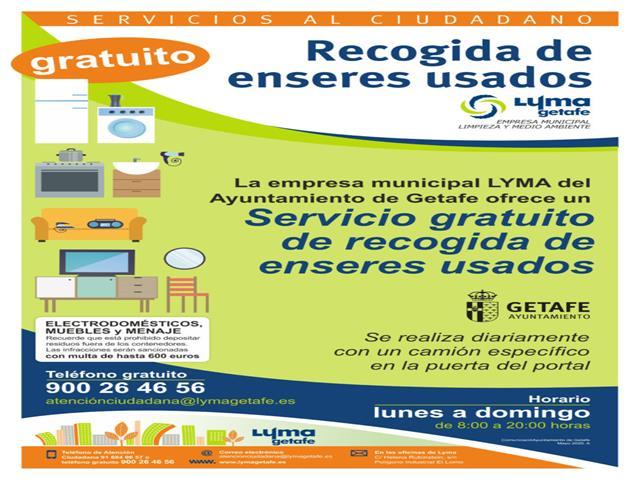 LYMA reanuda el servicio de recogida de enseres puerta a puerta