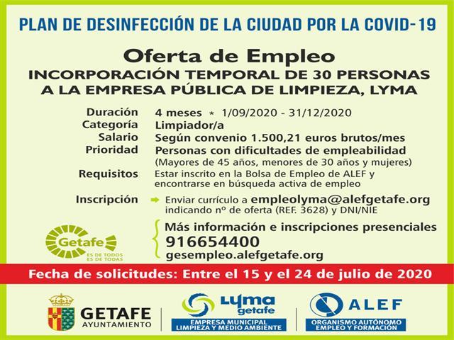Abierto el plazo de solicitudes para 30 empleos temporales en LYMA