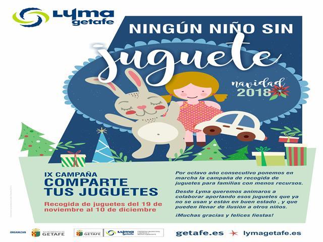 El Ayuntamiento de Getafe ha comenzado su campaña 'Ningún niño sin juguete' para familias con menos recursos