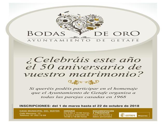 El Ayuntamiento de Getafe homenajea a las parejas que cumplen su 50 aniversario