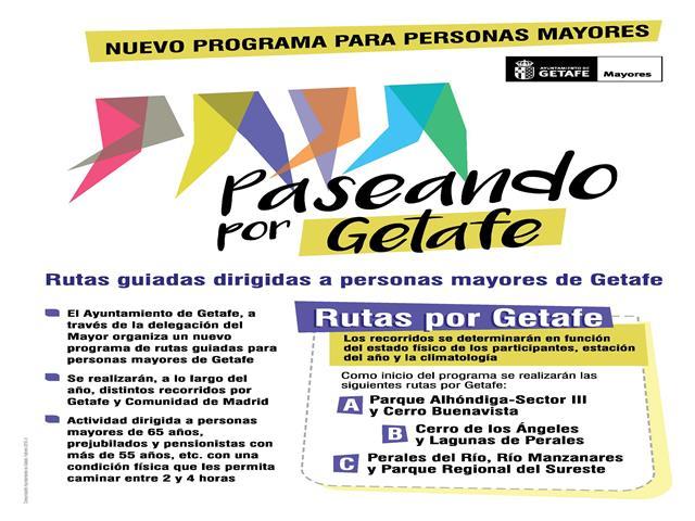 El Ayuntamiento de Getafe promueve la actividad física de los mayores con el nuevo programa 'Paseando por Getafe'