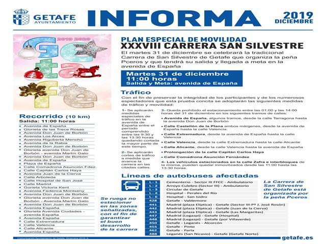 Las calles de Getafe acogerán la XXXVIII Carrera de San Silvestre