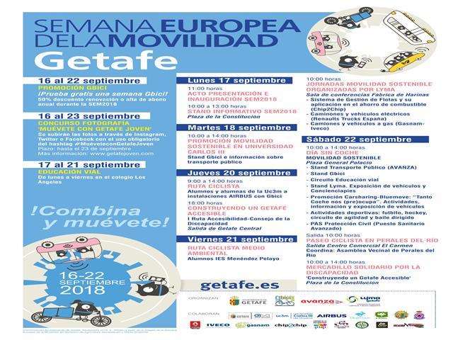 Getafe celebra la Semana Europea de la Movilidad 2018