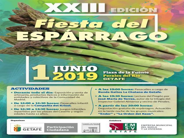 El barrio de Perales del Río vivirá el próximo sábado 1 de junio su XXIII Fiesta del Espárrago