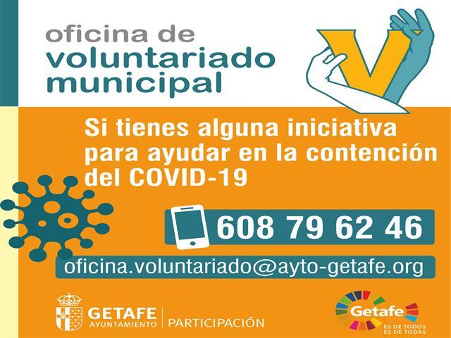Getafe habilita la Oficina de Voluntariado para centralizar las iniciativas ciudadanas