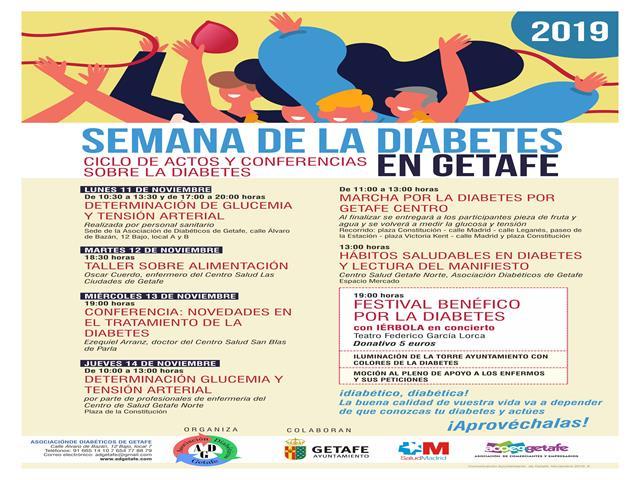Getafe celebra la 'Semana de la Diabetes' para concienciar sobre esta enfermedad