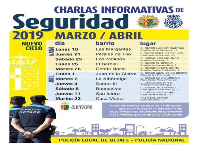 Policía Local y Policía Nacional comienzan un nuevo ciclo de charlas de seguridad en los barrios