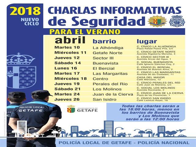 La Policía Local y el Cuerpo Nacional de Policía darán charlas de seguridad en los barrios de cara al verano