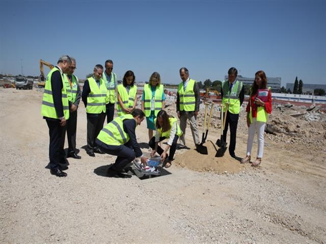Colocada la primera piedra del Campus Airbus España que trasladará sus oficinas centrales a Getafe