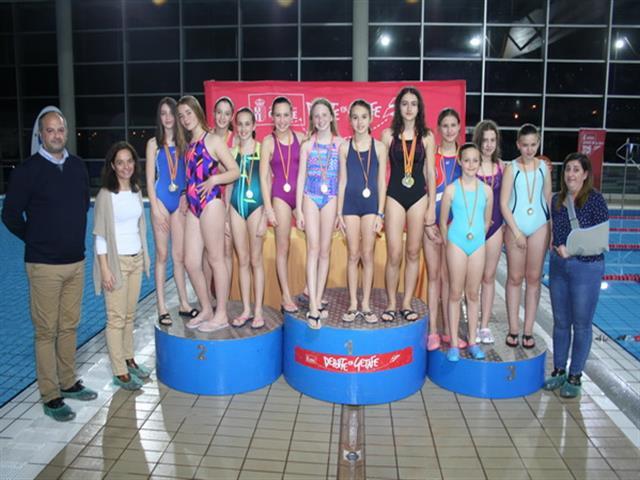 206 nadadores y nadadoras han participado en el XIX campeonato local de natación de Getafe