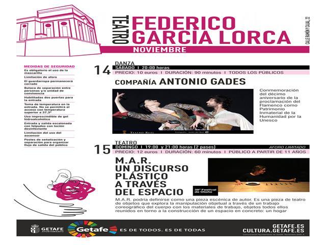 Teatro, danza y música protagonizarán el fin de semana cultural en Getafe