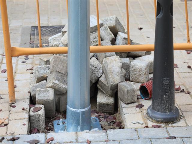 Remodelación del alumbrado público en varias calles del barrio Centro