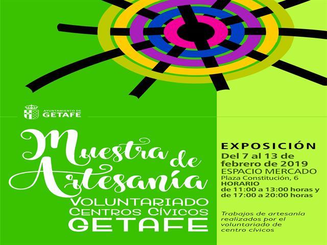 El Espacio Mercado acoge una exposición de talleres de artesanía realizados por el voluntariado de Getafe