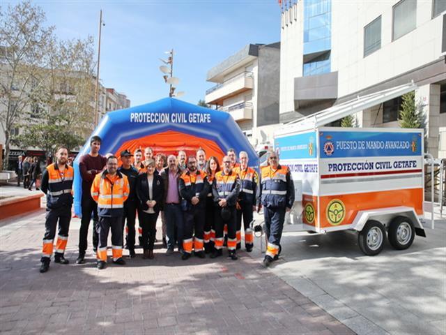 Protección Civil de Getafe cuenta con un nuevo remolque para trasladar su hospital de campaña