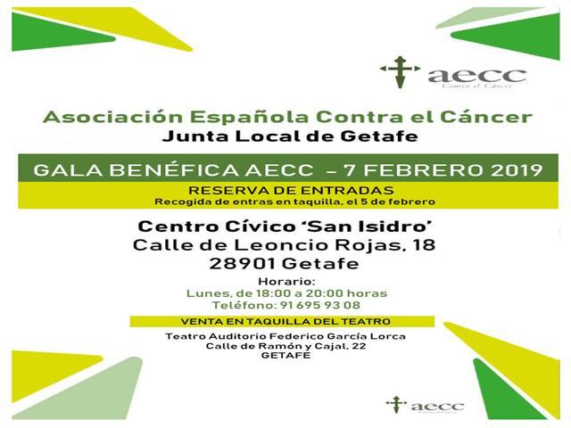 Gala benéfica de la Asociación Española Contra el Cáncer de Getafe