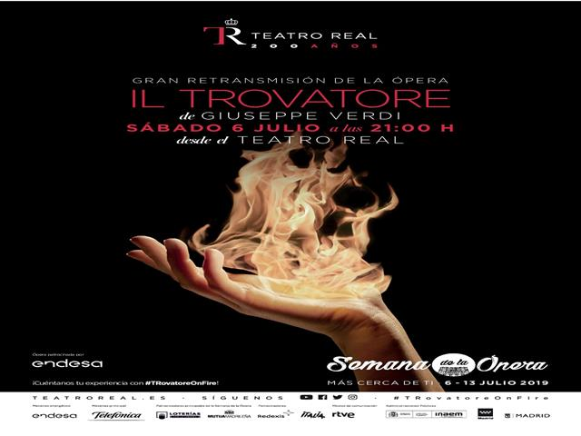Una pantalla gigante en la plaza de la Constitución ofrecerá la retransmisión de la ópera 'Il Trovatore' desde el Teatro Real