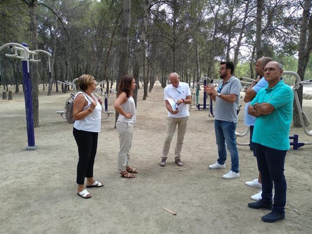 El Ayuntamiento de Getafe instala un circuito deportivo y un área infantil en el Cerro de los Ángeles
