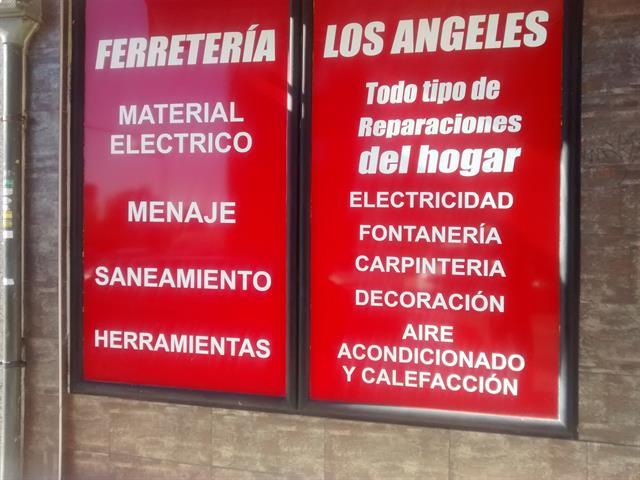 LOS ANGELES, FERRETERÍA BARATA, MENAJE, ELECTRICIDAD, REPARACIONES Y SERVICIOS EN GETAFE