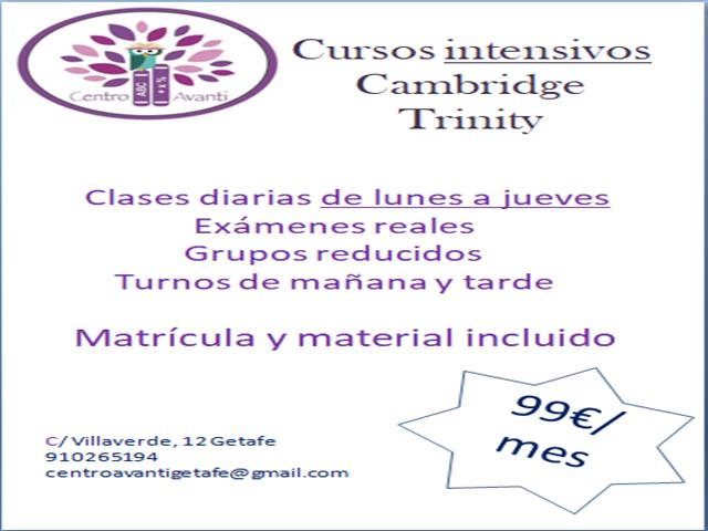CURSOS INTENSIVOS TRINITY Y CAMBRIDGE
