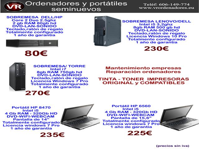 Ordenador Dell/HP desde sólo 80€