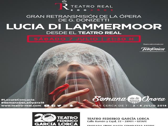 El teatro Federico García Lorca ofrece la retransmisión de la ópera 'Lucia di Lammermoor' de Gaetano Donizetti