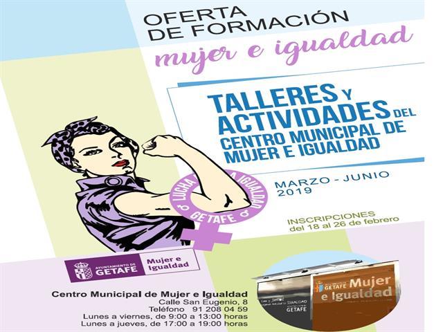 Abierto el plazo de inscripción para los talleres del Centro Municipal de Mujer e Igualdad