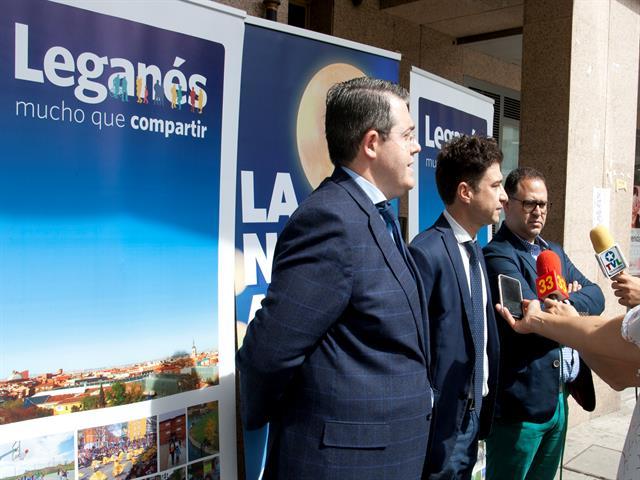 Rubén Bejarano y representantes comerciales presentan 'La Noche Abierta', que llenará de actividades y animación las calles de Leganés