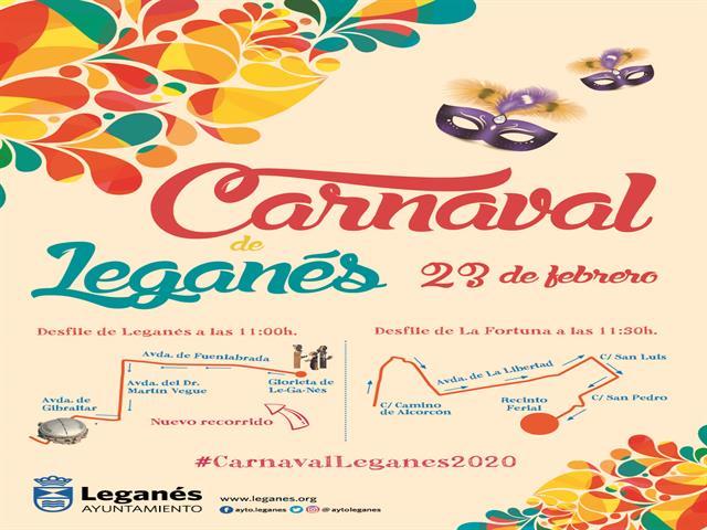 Los desfiles de Carnaval de Leganés y La Fortuna llenarán las calles de color y animación este domingo